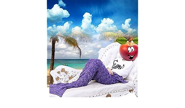 funwill cola de sirena de punto colcha manta para bebé, infantil, para niños, adultos: Amazon.es: Hogar