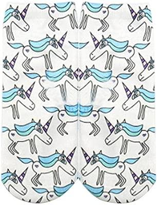 KEOIWDIE Calcetines del Unicornio de la Historieta de Las Muchachas de Las Mujeres Calcetines del Arte de la Pintura del Arte