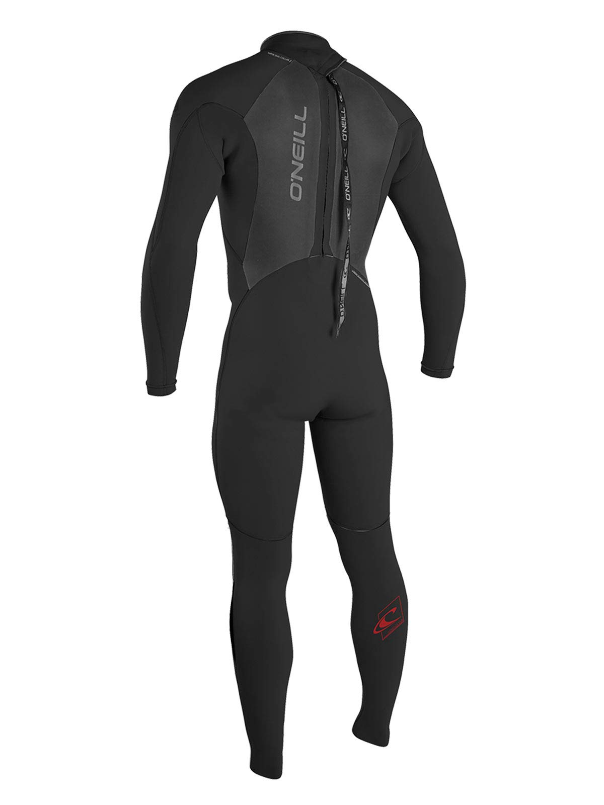 O'Neill Men's Epic 4/3mm Full Wetsuit (Black/Black/red, Small) by O'Neill Wetsuits (Image #3)