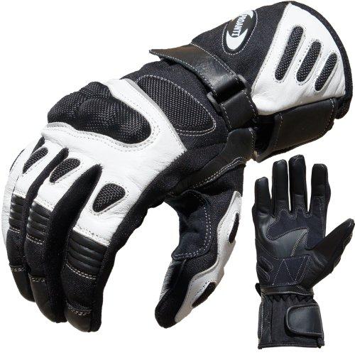 PROANTI Motorradhandschuhe Summer Motorrad Handschuhe (Gr. XS – XXL, Weiß)