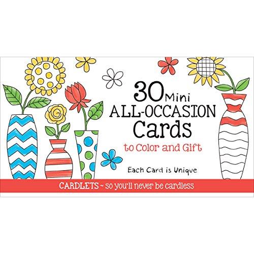 [해외]CQ Products CQ2602 Cafe Mini All Occasion Coloring Cards 30Pkg Black / CQ Products CQ2602 Cafe Mini All Occasion Coloring Cards 30Pkg, Black
