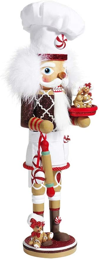 Kurt Adler Kurt S. Adler 15.5-Inch Hollywood Gingerbread Chef Nutcracker, Multi
