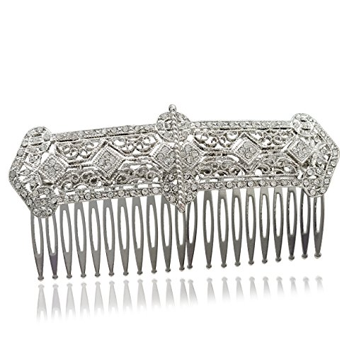 g Rhinestone Crystals Palace Hair Comb Hair Jewelry Accessories XBY086 ()