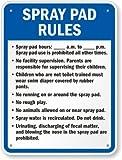 Spray Pad Rules, Spray Pad Hours:______ a.m. To _____ p.m. Spray Pad Use Is Sign, 30'' x 24''