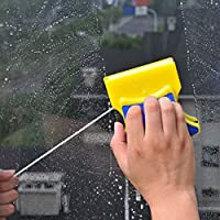 Magnetic Window Double Side Glass Wiper Cleaner Clean Brush Pad Scraper Scrubber Free shipping