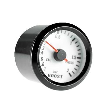 Mintice/™ Car Motor Vehicle Black Face 2 52mm Pointer Boost Gauge Psi In.Hg Meter LED Light