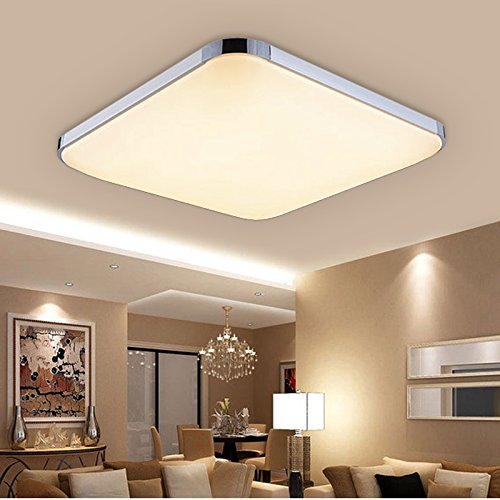 Hengda® 24W LED Deckenleuchte Panel Alu-matt Energiespar Deckenlampe Warmweiß 2700-3200 Kelvin, 1920 Lumen