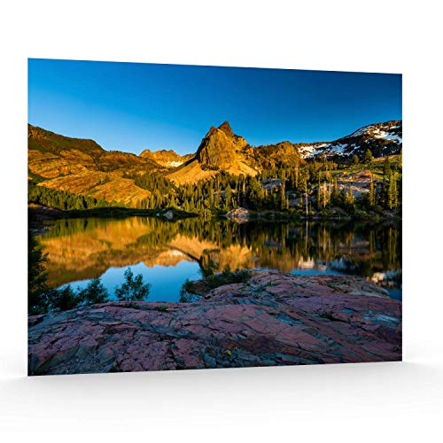 - Utah Nature Photography 16x20 Inch Unframed Nature Poster Print The Shores Lake Blanche at Sunset