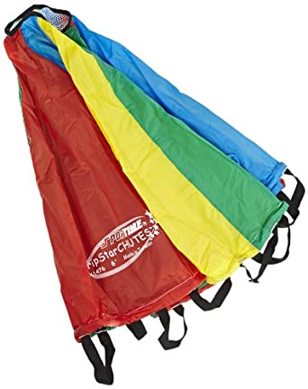 School Specialty GripStarChutes Parachute 6 foot Diameter - 8 Handles - 19  foot Circumference  Amazon.co.uk  Welcome 250bae19ab43d