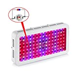 Gianor 1200W Led Grow Light Full Spectrum Double Chips Grow Light Led for Hydroponics/Greenhouse Plants Growing/Flowering