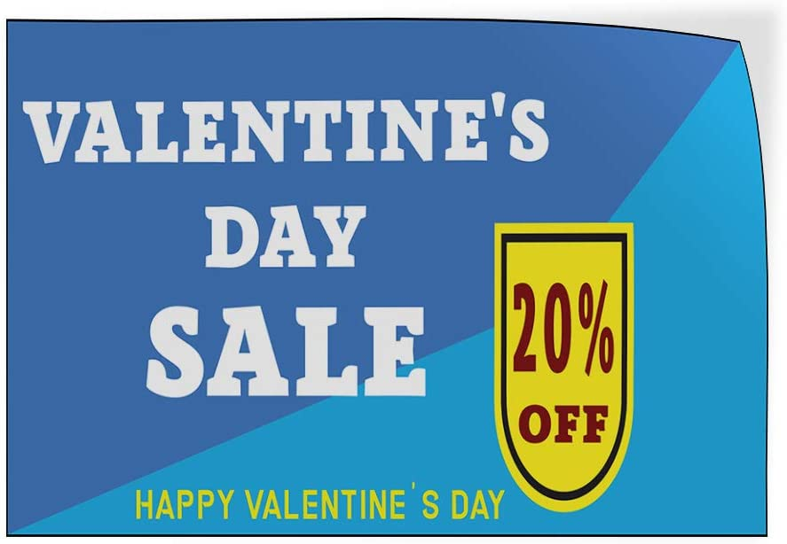 Custom Door Decals Vinyl Stickers Multiple Sizes Valentines Day Sale Percentage Off Blue Business Sale Outdoor Luggage /& Bumper Stickers for Cars Blue 27X18Inches Set of 5