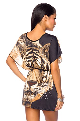 Angies Glamour Fashion - Camiseta sin mangas - para mujer Braun/Schwarz