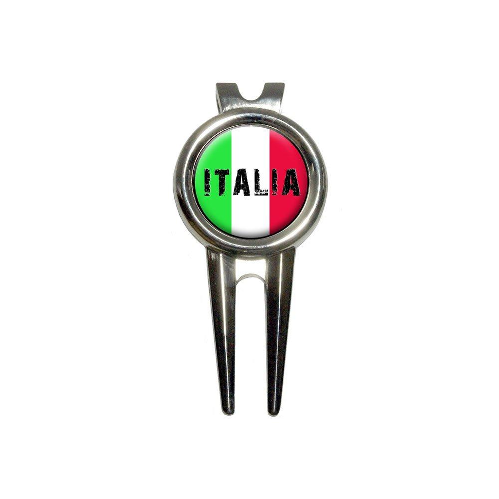 Italia - Italy Italian Flag Golf Divot Repair Tool and Ball Marker