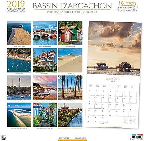 CALENDRIER 2019 BASSIN D'ARCACHON   COTE ATLANTIQUE   ARCACHON