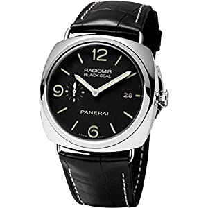 Panerai Men's PAM00388 Radiomir Stainless Steel Watch with Black Leather Band by Panerai