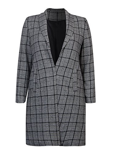 CHARLES RICHARDS Women's Grey Outwear Mid-Long Length Plus Size Blazer Coat (6X-Plus)