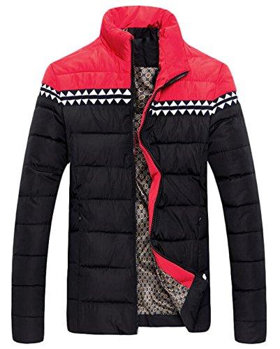 Quilted Block US Men's Black Down M Color EKU Coat Jacket Warm Zipper XxORTxqwA