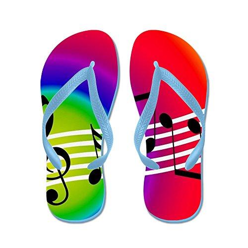 Cafepress Musik - Flip Flops, Roliga Rem Sandaler, Strand Sandaler Caribbean Blue