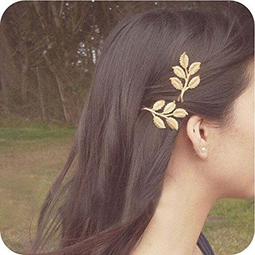 (Bestchoice - Olive Branches Leaves Beautiful Bride Hairpin Side Folder Hair Styling Tools For Women)