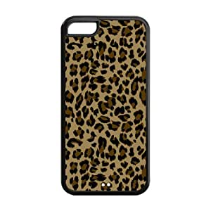 Trendy Leopard Print Protective Rubber Back Fits Cover Case for iPhone 5C