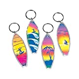 Fun Express - Assorted Surf Board Key Chains (4-Pack of 12)