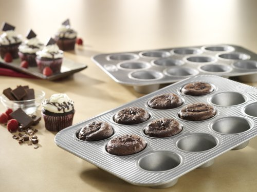 New 12 Cup Durable Non Stick Steel Muffin Baking Cake Pan with Kitchen Tools Combo by FNG Homestead