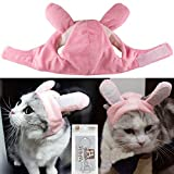 Bro'Bear Bunny Rabbit Hat with Ears for Cats & Small Dogs Party Costume Accessory Headwear (Pink Bunny, Small)