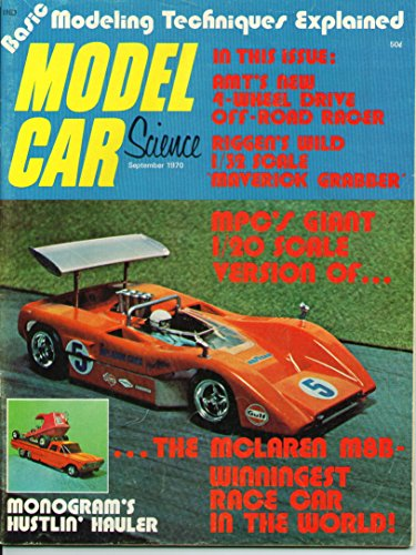 Model Car Science Magazine September 1970