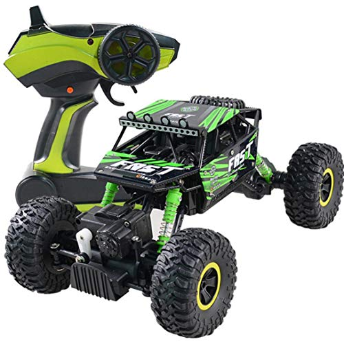 Cinhent Toys, 4WD RC Monster Truck Off-Road Vehicle 2.4G Remote Control Buggy Crawler Car, 4 Wheel Drive, 26 × 17× 12.5CM, 25km/h, Gift Vehicle Toy Children Play Fun (Green) (Buggy Off Gas Road)