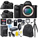 Sony (a) Alpha a7II Mirrorless Digital Camera, ILCE7M2/B & CS Upgraders Advanced Package: Includes Transcend 32GB SDHC 200X Memory Card, SD Card Reader, Memory Card Wallet, Wirless Shutter Release, Mini Condenser Mic, Sony FW50 Replacement Battery, Rapid Travel Charger With Car Adapter & US+EU Plugs, Wrist Strap, LED Video Light, Full Size Tripod With Carrying Case, SLR Backpack, Brush Blower, Cleaning Kit & CS Microfiber Cleaning Cloth