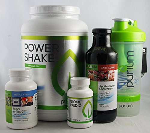 Purium Core 4 Nutrition Kit - Unflavored Power Shake w/ Shaker Bottle by Purium