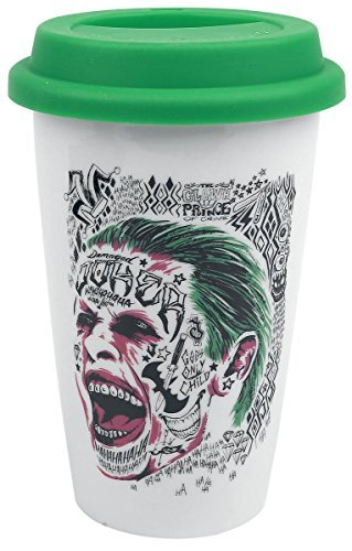 Suicide Squad The Joker Ceramic Travel Mug, Multi-Colour by Suicide Squad by Bourne Gifts