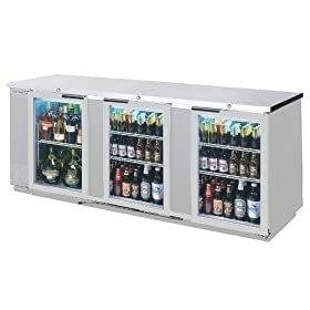 Beverage-Air BB94G-1-S 94″ Stainless Steel B...