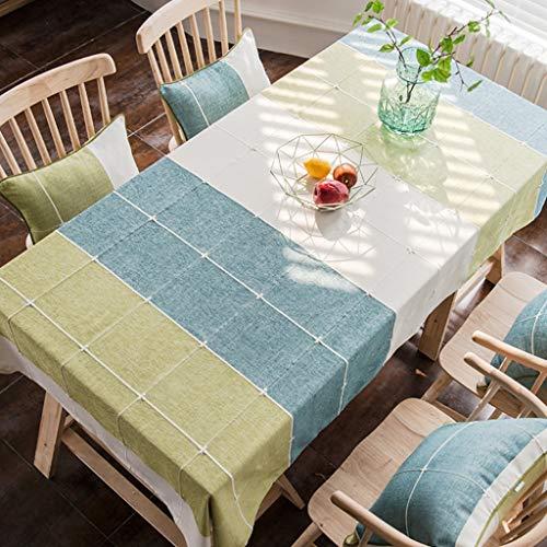 Lavable Nappe à voiturereaux en coton et lin de couleur unie Nappe rectangulaire (Couleur   P, Taille   130X240CM)