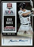2015 playoffs tickets - 2015 Panini Contenders USA Baseball Ticket Autographs Playoff #9 Kevin Kramer #09/15