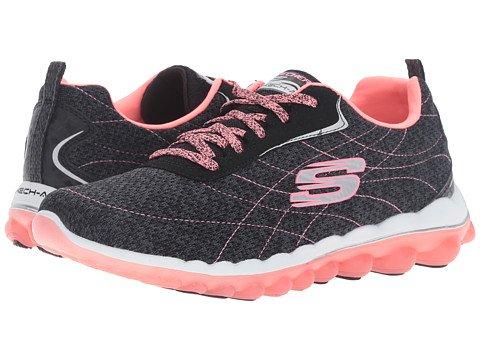 (スケッチャーズ) SKECHERS レディーススニーカー?ウォーキングシューズ?靴 Skech-Air 2.0 Modern Edge Black Pink 8 25cm B - Medium [並行輸入品]