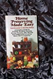Home Preserving Made Easy, Vera Gewanter, 0671805185