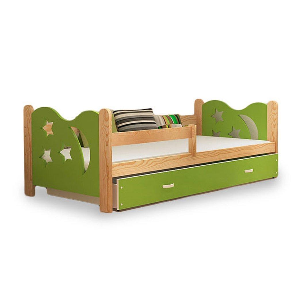 Einzelbett kinder  Kinder Bett Einzelbett Kinderbett Kinderzimmerbett Kiefer Grün neu ...