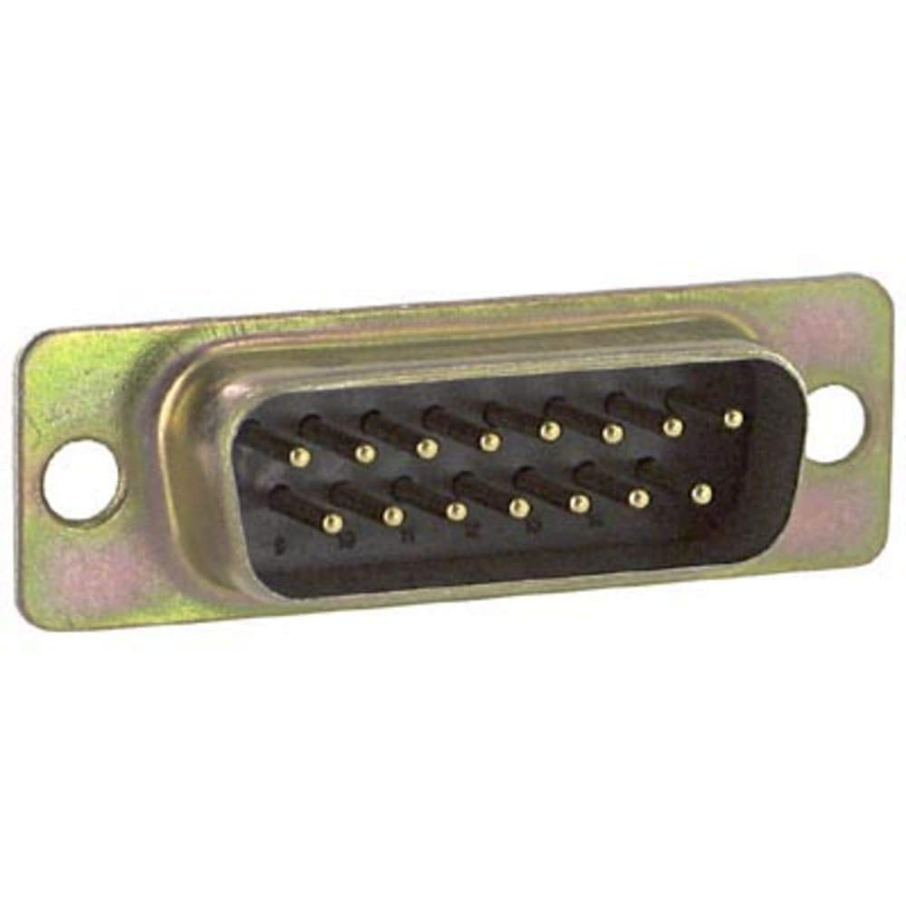 connector; d-sub; fixed machined contact; solder cup; 15 pin contact plug, Pack of 10