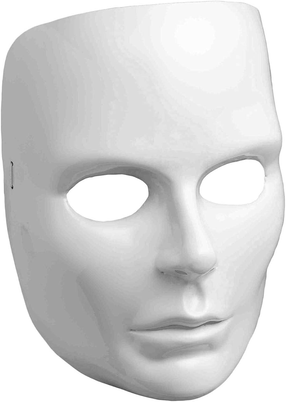 White Full Face Mask