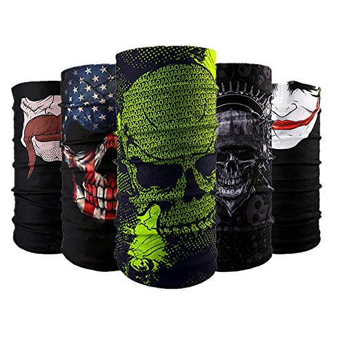 Wujia 3&5pcs Bandana Headband Face Mask, Outdoor Sport for -