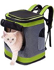 HAPPY HACHI Plecak z transporterem dla psa Wodoodporny plecak Puppy Cat Pet Miękka, wyściełana torba podróżna Zatwierdzona przez linie lotnicze z otwartą od góry oddychającą siateczką i paskiem w talii