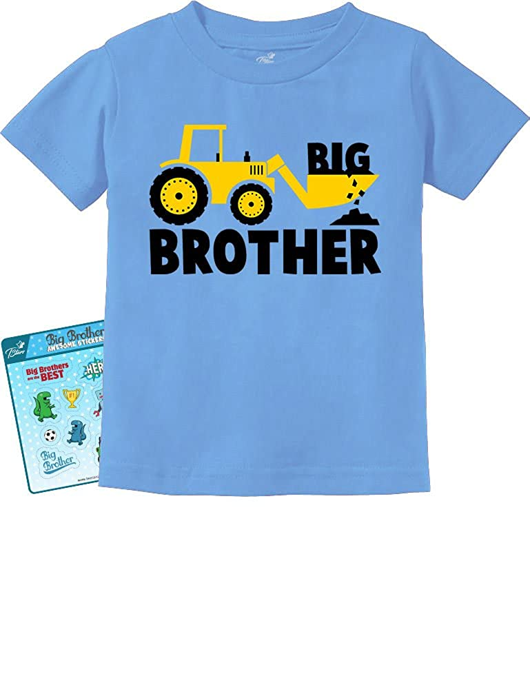 Big Brother Tractor Lovers Boys Toddler/Infant Kids T-Shirt Stickers GhPhZhZgm5