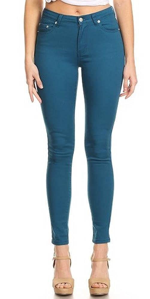 64e3e79b6837a Monotiques Women s Casual Jeans Semi High Rise Solid 5 Pocket 30