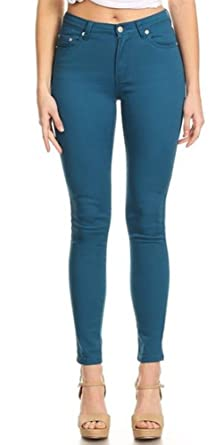 5face24445a43 Image Unavailable. Image not available for. Colour  Monotiques Women s  Casual Jeans Semi High Rise ...