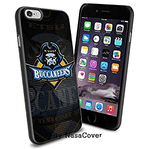 (Available for iPhone 4,4s,5,5s,6,6Plus) NCAA University sport East Tennessee State Buccaneers , Cool iPhone 4 5 or 6 Smartphone Case Cover Collector iPhone TPU Rubber Case Black [By Lucky9Cover]