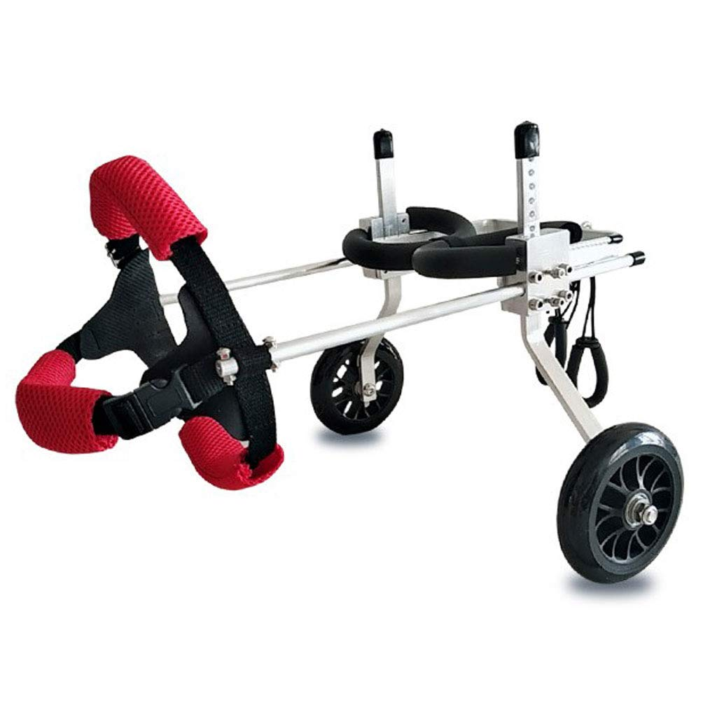 LLG-CWLY Pet Wheelchair,Metal Dog and Cat Hind Limb Assisted Vehicle,Pet Hind Leg Rehabilitation Equipment