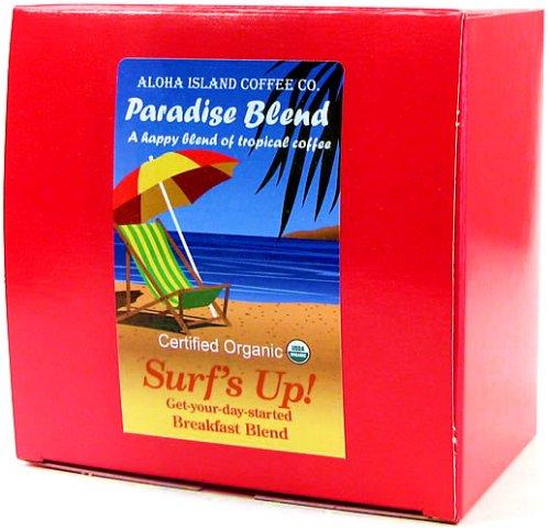 Senseo Pods, Surf's Up! Breakfast Blend, Certified Organic Coffee Pods, 18 (Aloha Island Island Breakfast)