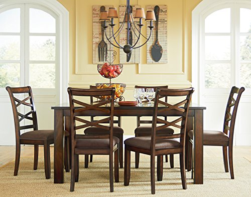 Standard Furniture 11222 Redondo Table and six Chair Set, 60