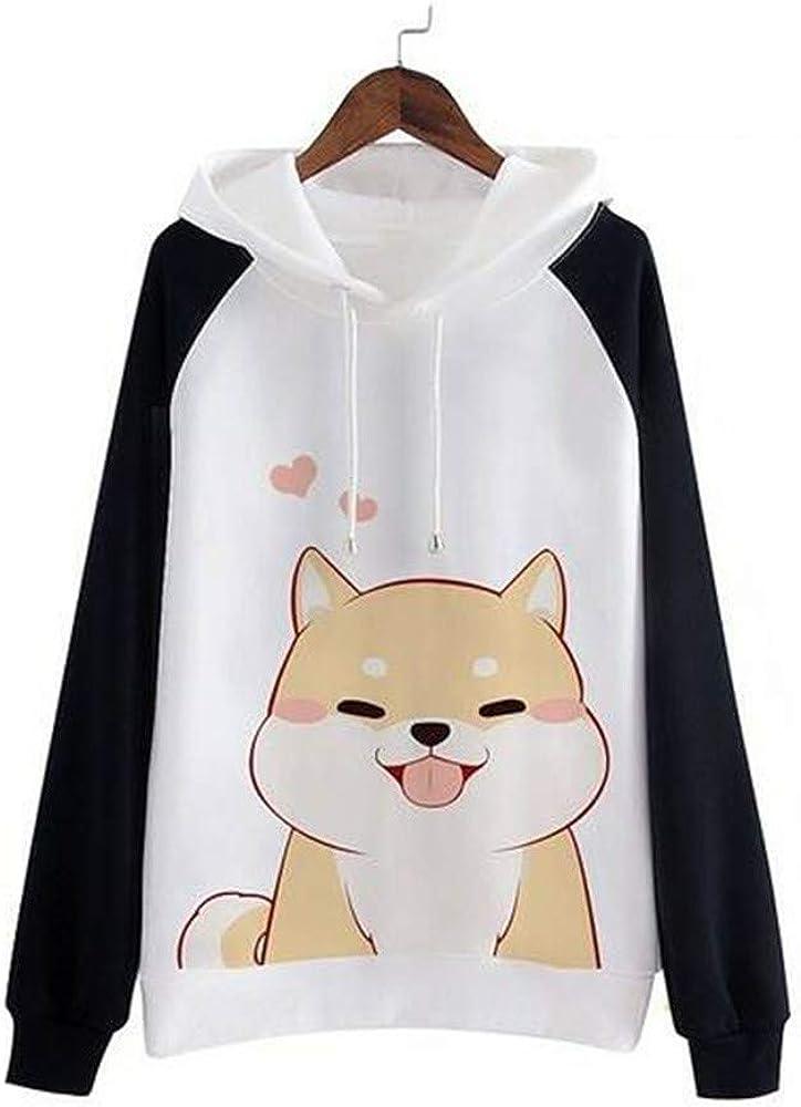 VJGOAL Moda para Mujer Casual Animal Print Sudadera con Capucha de Manga Larga Jersey con Capucha Blusa de impresi/ón
